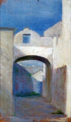 Italian Alley   Marie Triepcke Kroyer   Oil Painting