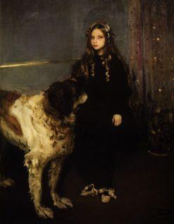 Girl with a Dog | Oleksandr Murashko | Oil Painting