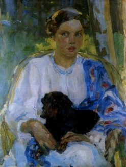 Girl with a Dog | Oleksandr Murashko | Oil Painting
