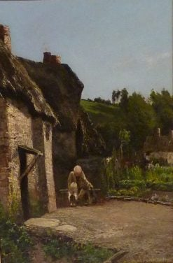Sunshine at the Cottage Door | John Clayton Adams | Oil Painting