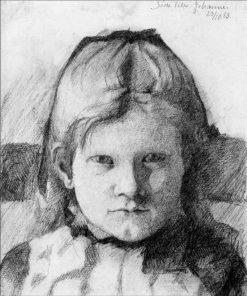 Little Johanne   Marie Triepcke Kroyer   Oil Painting