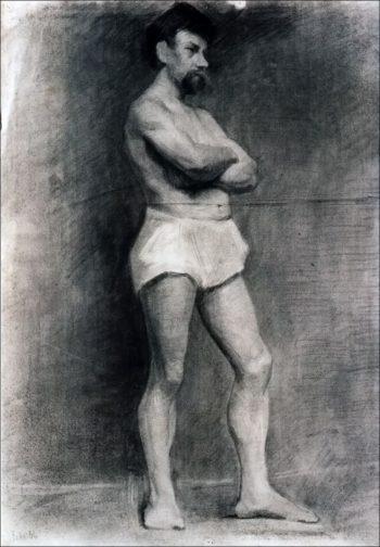 Male Model | Marie Triepcke Kroyer | Oil Painting