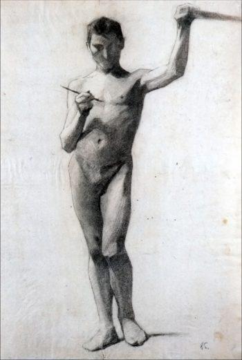 Male Model   Marie Triepcke Kroyer   Oil Painting