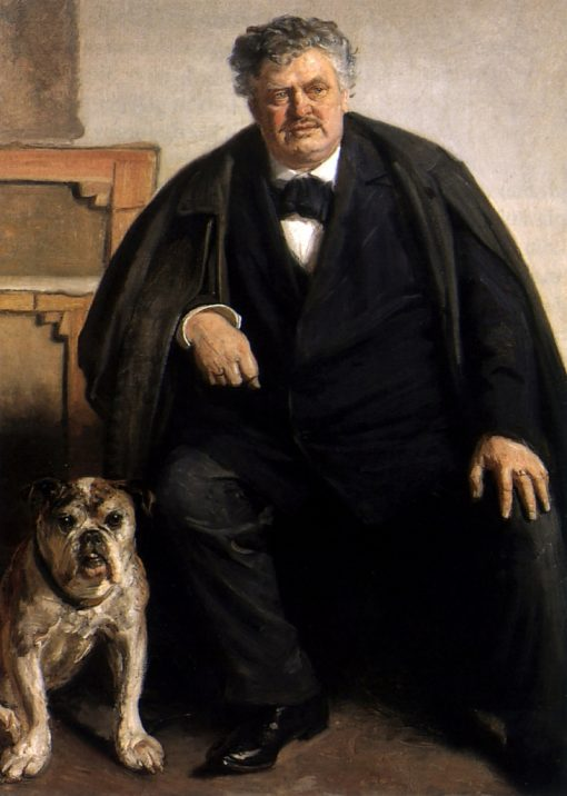 Carl Locher with his dog Tiger | Michael Peter Ancher | Oil Painting