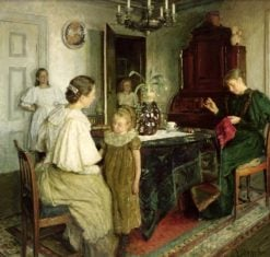 The Family of the Artist | Viggo Johansen | Oil Painting