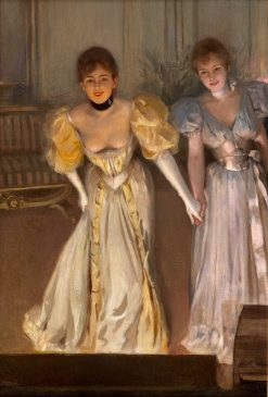 Two Actresses on Stage | Albert Lynch | Oil Painting