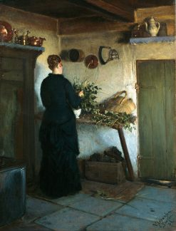 Kitchen Interior | Viggo Johansen | Oil Painting