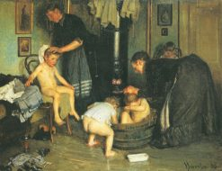 Washing the Children | Viggo Johansen | Oil Painting