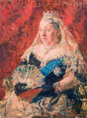 Portrait of Queen Victoria | Laurits Tuxen | Oil Painting