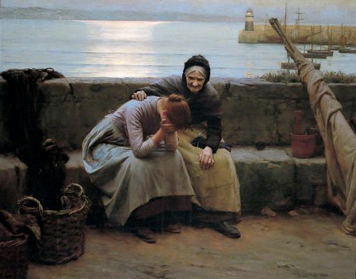 Never morning wore to evening but some heart did break   Walter Langley