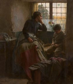 The tender grace of a day that is dead will never come back to me | Walter Langley