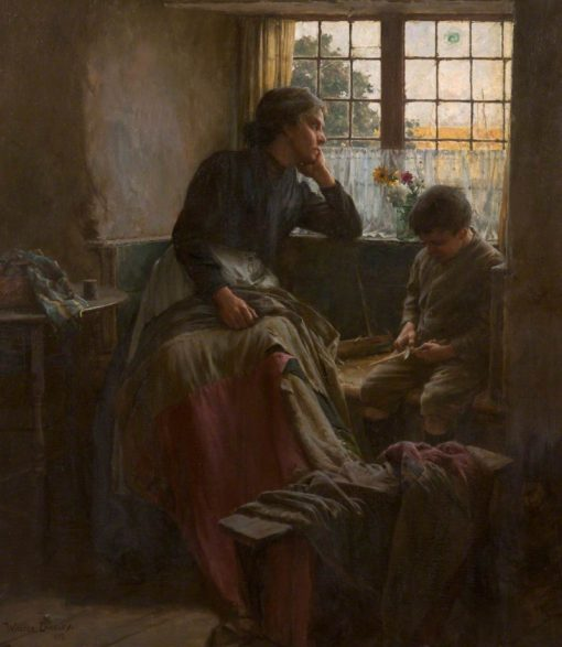 The tender grace of a day that is dead will never come back to me   Walter Langley