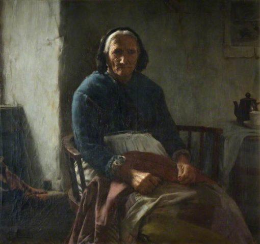 An Old Cornish Woman | Walter Langley