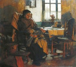 In the Firelight | Walter Langley