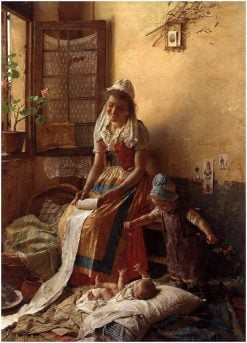 A mothers love | Gaetano Chierici | Oil Painting