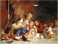 Farmyard Rascals | Gaetano Chierici | Oil Painting