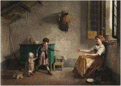 The First Steps | Gaetano Chierici | Oil Painting