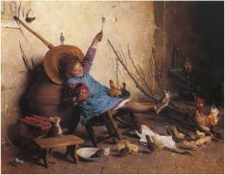 The Last Forkful | Gaetano Chierici | Oil Painting