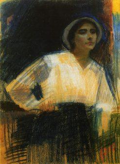Portrait of Painter Frida Meerson | Oleksandr Murashko | Oil Painting