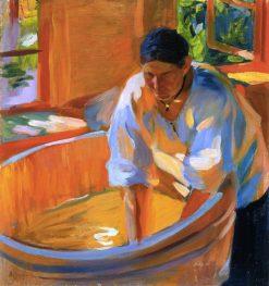 The Washerwoman | Oleksandr Murashko | Oil Painting