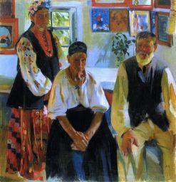 A Peasant Family | Oleksandr Murashko | Oil Painting