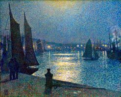 Moonlight Night in Boulogne | Theo van Rysselberghe | Oil Painting