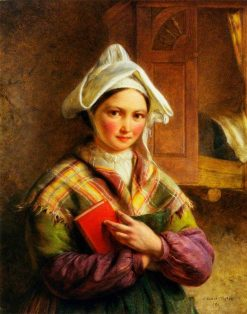 Peasant Woman of Brittany | Edward Hughes | Oil Painting