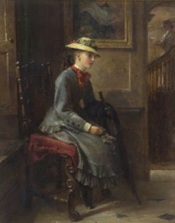 Interior with a Girl Waiting | Edward Hughes | Oil Painting
