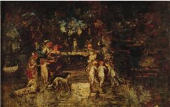 Feast in the Park | Adolphe-Joseph-Thomas Monticelli | Oil Painting