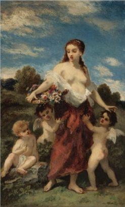 The Innocence in Danger | Narcisse Dìaz de la Peña | Oil Painting
