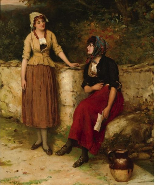 Sisterly Advice | William Oliver | Oil Painting