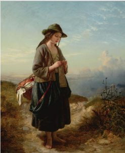 The Crofters Daughter | Edward John Cobbett | Oil Painting