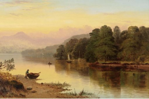 A River in Wales | George Cole | Oil Painting