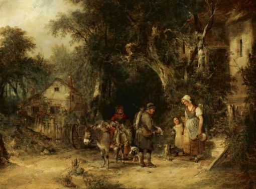 The Rabbit Man | William Shayer Snr | Oil Painting