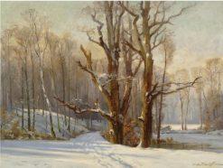 The Woods in Winter | Konstantin Westchilov | Oil Painting