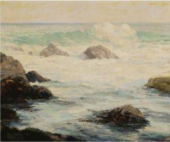 Waves Crashing Against Rocks | Konstantin Westchilov | Oil Painting