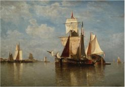 Shipping off the Dutch Coast | Paul Jean Clays | Oil Painting