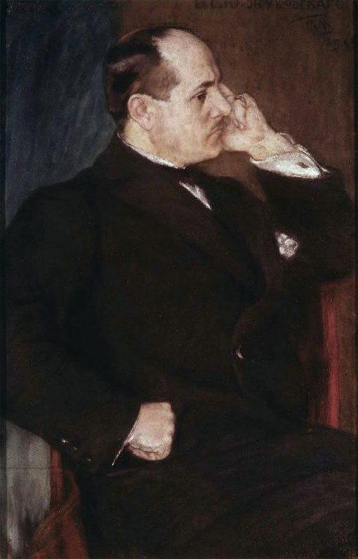 Portrait of Stanislav Zhukovsky | Sergei Malyutin | Oil Painting