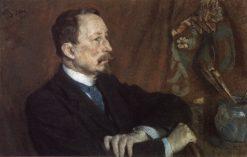 Portrait of Painter Apollinari Vasnetsov | Sergei Malyutin | Oil Painting
