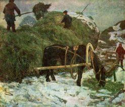 Hay Provision | Sergei Malyutin | Oil Painting
