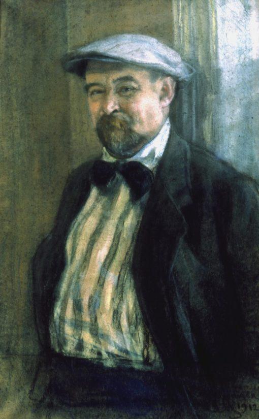 Portrait of Vasily Perepletchikov   Sergei Malyutin   Oil Painting