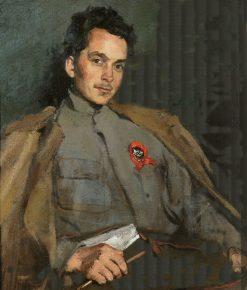 Portrait of Writer Dmitry Furmanov | Sergei Malyutin | Oil Painting