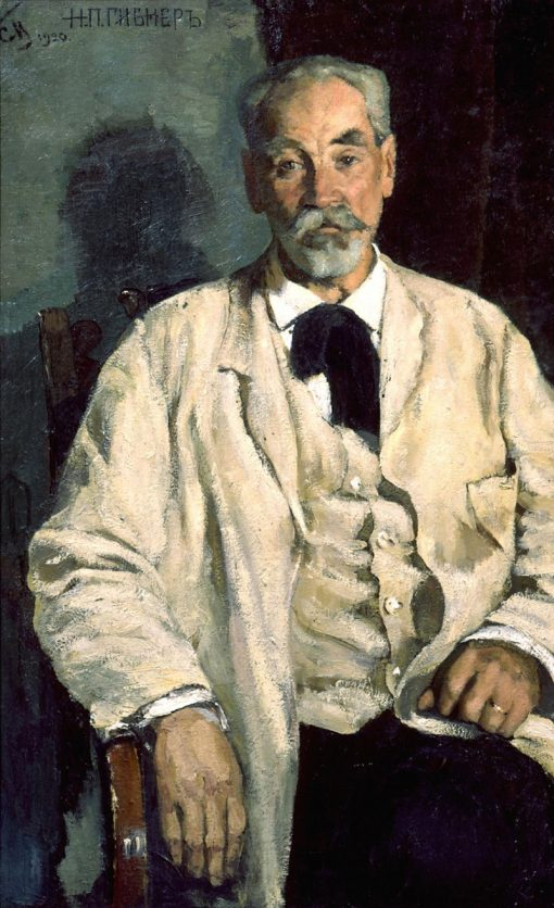 Portrait of N.P. Gibner | Sergei Malyutin | Oil Painting