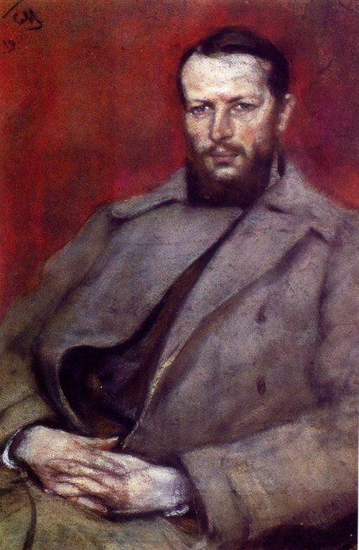 Portrait of Architect N.D. Vinogradov | Sergei Malyutin | Oil Painting