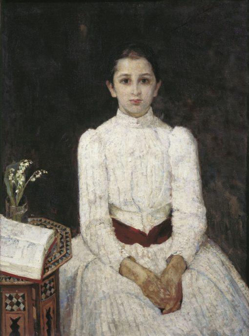 Portrait of a Girl | Sergei Malyutin | Oil Painting