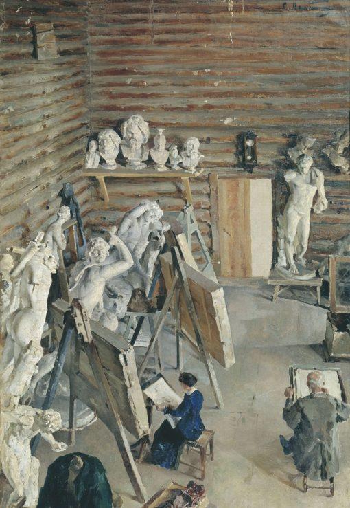 The Sculptors Studio | Sergei Malyutin | Oil Painting