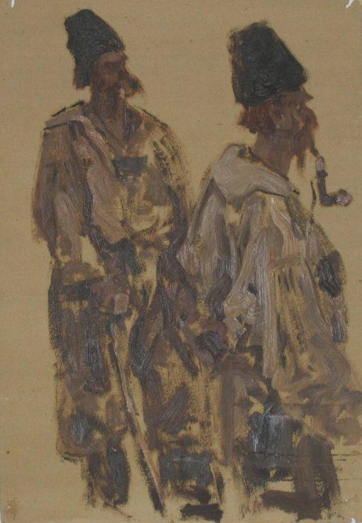 Two Ukrainians | Sergei Malyutin | Oil Painting