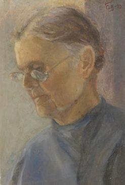 Old Teacher | Sergei Malyutin | Oil Painting