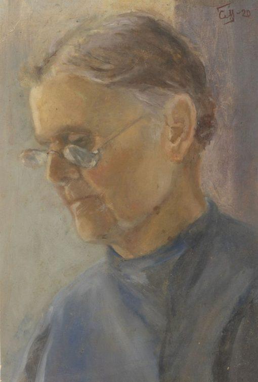 Old Teacher   Sergei Malyutin   Oil Painting