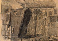 Sketch of Coats on a Coat Rack | Sergei Malyutin | Oil Painting